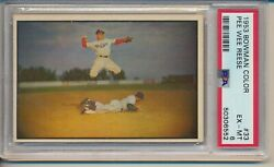 1953 Bowman Color Pee Wee Reese 33 Psa 6