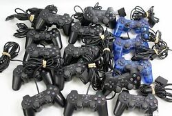 Lot 15 Genuine Oem Sony Playstation 2 /ps2andnbsp Dual Shock 2 Wired Game Controllers