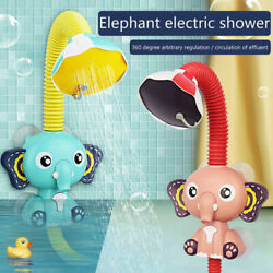 Baby Bath Toys Water Game Elephant Faucet Electric Shower Spray Kids Bathroom Us