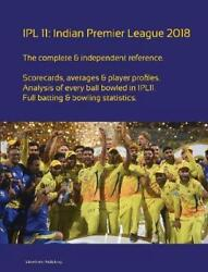 Ipl 11 Indian Premier League 2018 By Simon Barclay English Paperback Book Fre