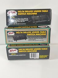 Atlas Ho/n 66 Deluxe Under-table Switch Machine - Lot Of 3