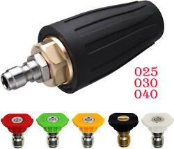 Quick Pressure Washer Rotating Turbo Nozzle Spray Tip 2.5/3.0/4.0gpm 1/44000psi