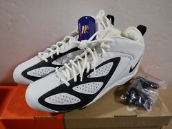 Nike Air Zoom Blade D Football Cleats White/black Size 12.5 Lot Of 6 Mglshelf