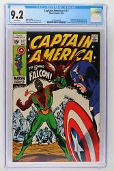 Captain America 117 - Marvel 1969 Cgc 9.2 1st Appearance And Origin Of The Falcon