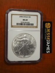 2006 1 American Silver Eagle Ngc Ms69 Classic Brown Label