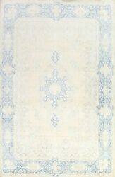 Antique Muted Kirman Hand-knotted Area Rug Floral Evenly Low Pile Carpet 10'x13'