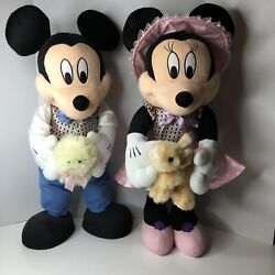 Disney Minnie And Mickey Mouse Easter Big 26 Plush Door/porch Greeters