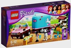 Lego 3186 Friends Emmaand039s Horse Trailer White Horse Robin 218 Pieces Ages 6-12