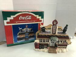 Coca Cola Christmas Village Diner Lighted House Decoration Coke Tested And Works
