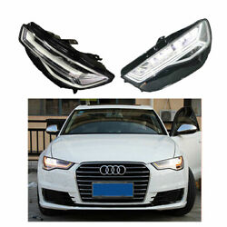 Headlight Assembly For Audi A6 2012-2018 Full Led Beam Projector Led Drl