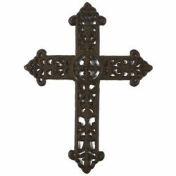 Wrought Iron Metal Rustic Celtic Cross Decoration For Christian 15x11.3x0.5