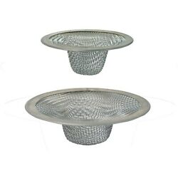 Peerless Stainless Stell Mesh Strainer 2pc. Fits Most Bathroom Sinks And Tub Dr