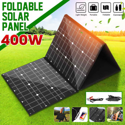 18v 400w Monocrystallinel Solar Panel Folding Package With 1.5m Cables +usb Inte