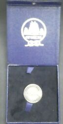 Opsail 86 Salute To Liberty Us Coast Guard Barque Eagle Sterling Silver Medal