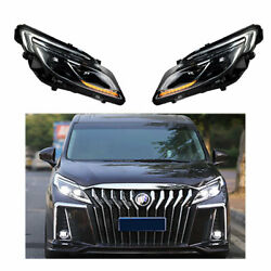 Headlight Assembly For Buick Gl8 2017-2019 Full Led Beam Projector Led Drl
