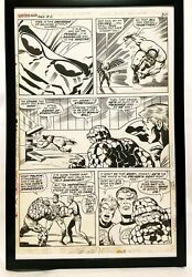 Fantastic Four Annual 6 Pg. 16 By Jack Kirby 11x17 Framed Original Art Poster M