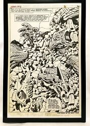 Fantastic Four Annual 6 Pg. 26 By Jack Kirby 11x17 Framed Original Art Poster M
