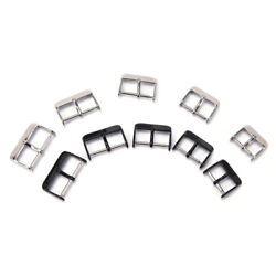 16 18 20 22 24mm Stainless Steel Needle Buckle Parts Watch Band Strap Claspyjk0