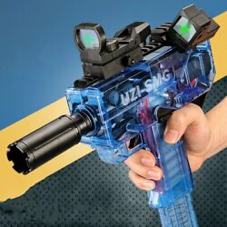 Uzi-smg High Speed Shooting Soft Hollow Bullets Darts Toy Gun For Gift
