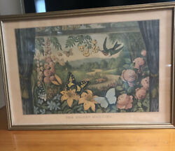 Currier And Ivesthe Golden Morning -reprinted From Lith Framed 1964