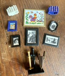 Playmobil Victorian Mansion Paintings Pictures Wall Decor Books Fire Tool 5300