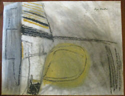 Modernist Midcentury Modern Mcm Abstract Gouache Watercolor Signed Faye Franklin