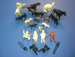 Roy Rogers Marx Rodeo Ranch Western Playset Figures Vintage 1950's Lot