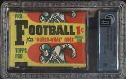 1959 Topps Football Authentic Unopened Wax Pack 1 Cent Gai 8 Nmmt 64077