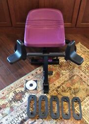 Body By Jake Hip And Thigh Exercise Machine W/ 5 Resistance Bands Clips And Dvd