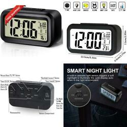 Alarm Clock Led Digital Large Display Snooze Night Light Battery Clock With Date