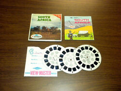 South Africa B124 With Coin Viewmaster 3 Reels Packet Set Vintage