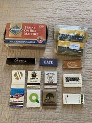 Lot Of Old Matches Matchbooks Used
