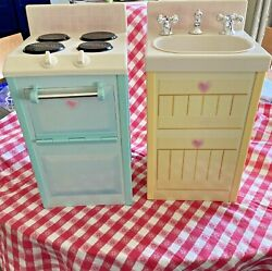 Rose Petal Cottage Stovetop/oven And Sink Combo Playskool