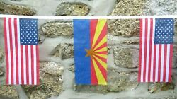 Usa And Us State Friendship Flag Bunting - 10m With 28 Flags - All 50 States