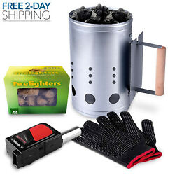 Homenote Rapid Charcoal Chimney Starter Set Fireplace Accessories Bbq Tools Us