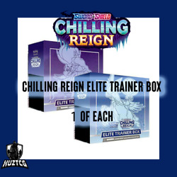 Pokemon Sword And Shield 2x Chilling Reign Elite Trainer Box 1x Of Each Preorder