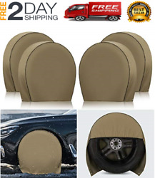 4 Pack Tire Covers For Rv 5th Wheel Travel Trailer Truck Camper Auto Heavy Duty