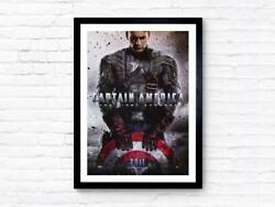 Captain America The First Avenger - 2011 - Movie Poster Wall Decor Home