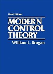 Modern Control Theory Paperback By Brogan William L. Like New Used Free S...