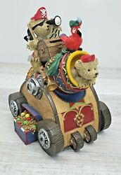 Pirates Treasure Teddy Bears On A Cannon Piggy Bank- Collectible