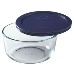 Pyrex Round Storage 950ml Dish W/ Lid Bowl Glass Container Serving Glassware