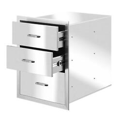 Multi-size Outdoor Kitchen Drawer Bbq Stainless Steel Access Drawer Silver