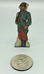 Vintage Marx Foot Soldiers Of French Infantry Army 15 Tin Litho Toy 1940s 50s
