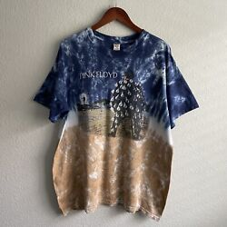 Vintage 90andrsquos 00andrsquos Pink Floyd Tie Dye Band Promo Shirt