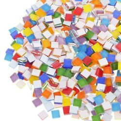 100g 10mm Mixed Square Mosaic Tiles For Crafts Glass Mosaic For Jewelry Making