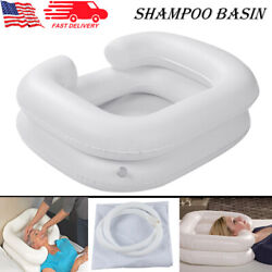 Inflatable Shampoo Basin Portable Sink For Washing Hair With Drain Blow Up Aid