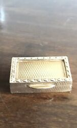 Antique Style Rare 9ct Yellow Gold Snuff Box Pill Case London 1924 By S.j.rose