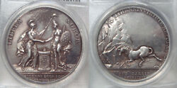 1782 Medal Betts-603 Silver Holland Receives Adams Special Strike Pcgs Sp55