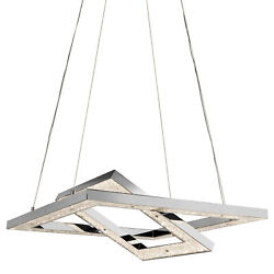 Elan Crushed Ice Chandelier - Cool White Crushed Ice Chandelier - - Chrome