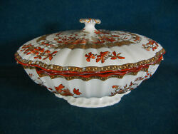 Copeland Spode India Tree 10 Square Covered Serving Bowl With Lid